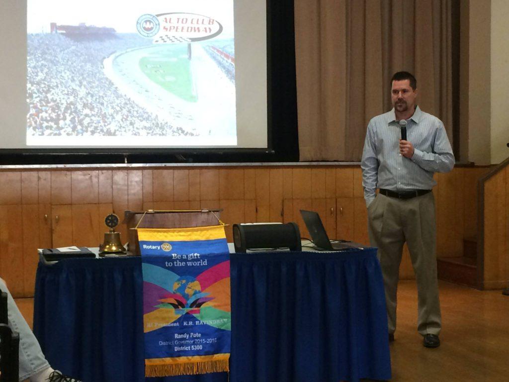 Speaker at Chino Rotary Club