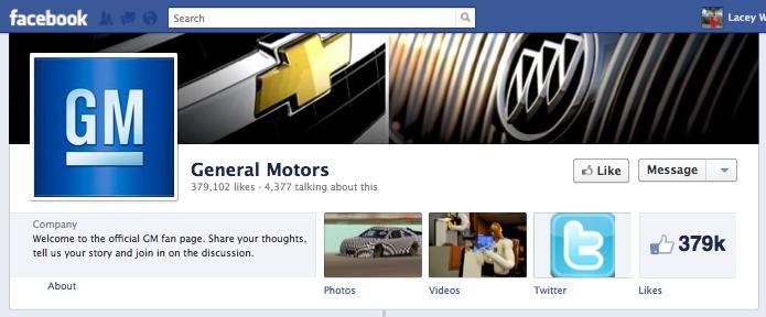 General Motors Facebook