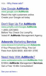 Competitors using term AdWords