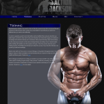 Training Page Design