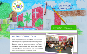 Home Page Design - Our Saviour's Children's Center