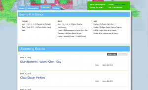 Events Page Design | Our Saviour's Children's Center