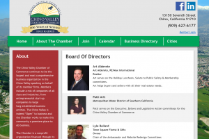 Chino Valley Chamber of Commerce Website - Board of Directors
