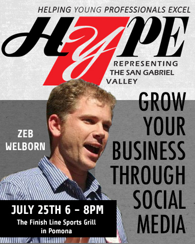 Zeb Welborn Grow Your Business Through Social Media HYPE San Dimas Chamber of Commerce