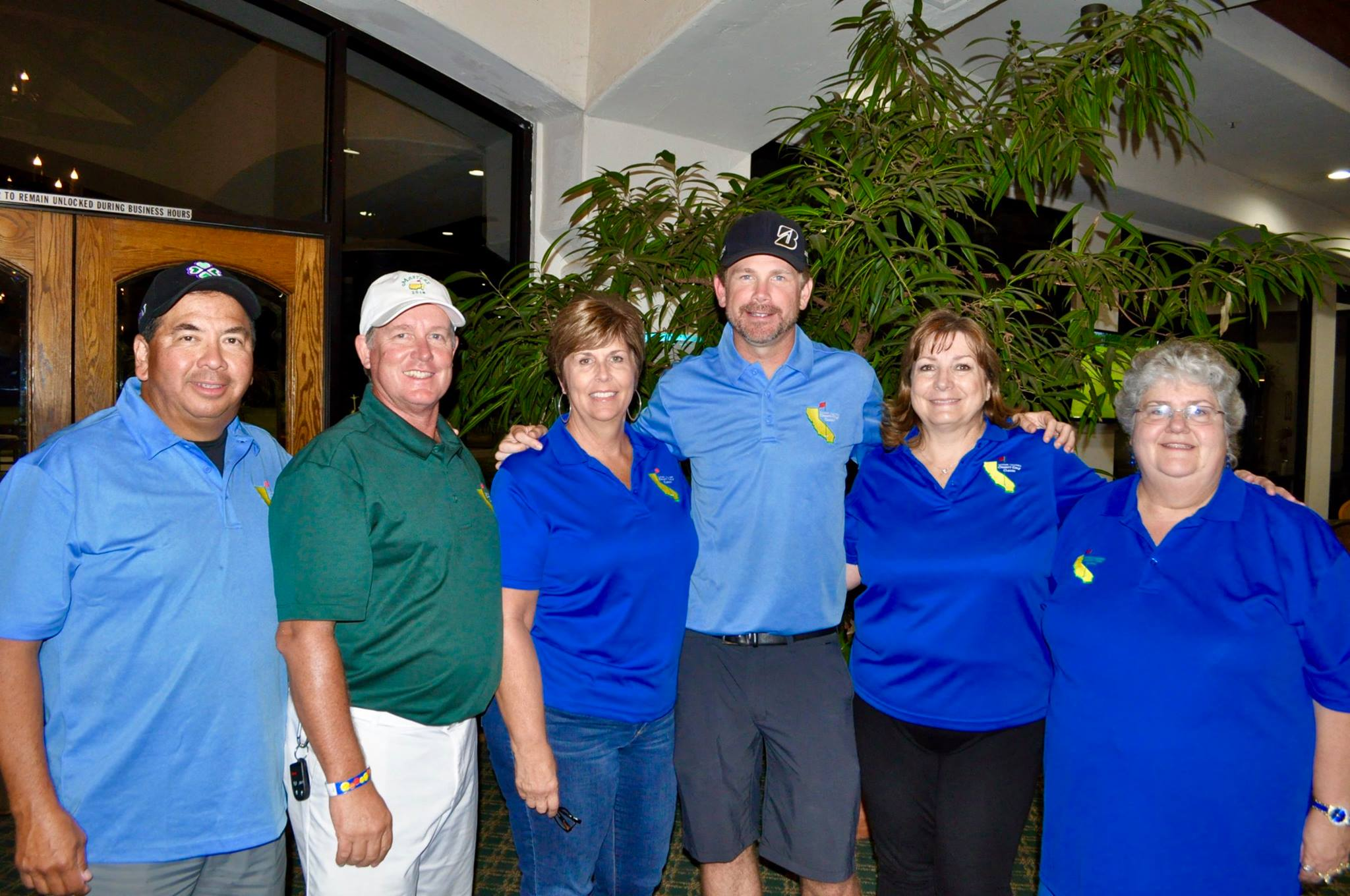 Organizers of the 3rd Annual Southern California Charity Golf Classic at Los Serranos Country Club - Anthony Verches, Ron Capps, Jan Edwards, Zeb Welborn, Lynnette Brown, Karon Mulligan