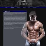 Training Page Design