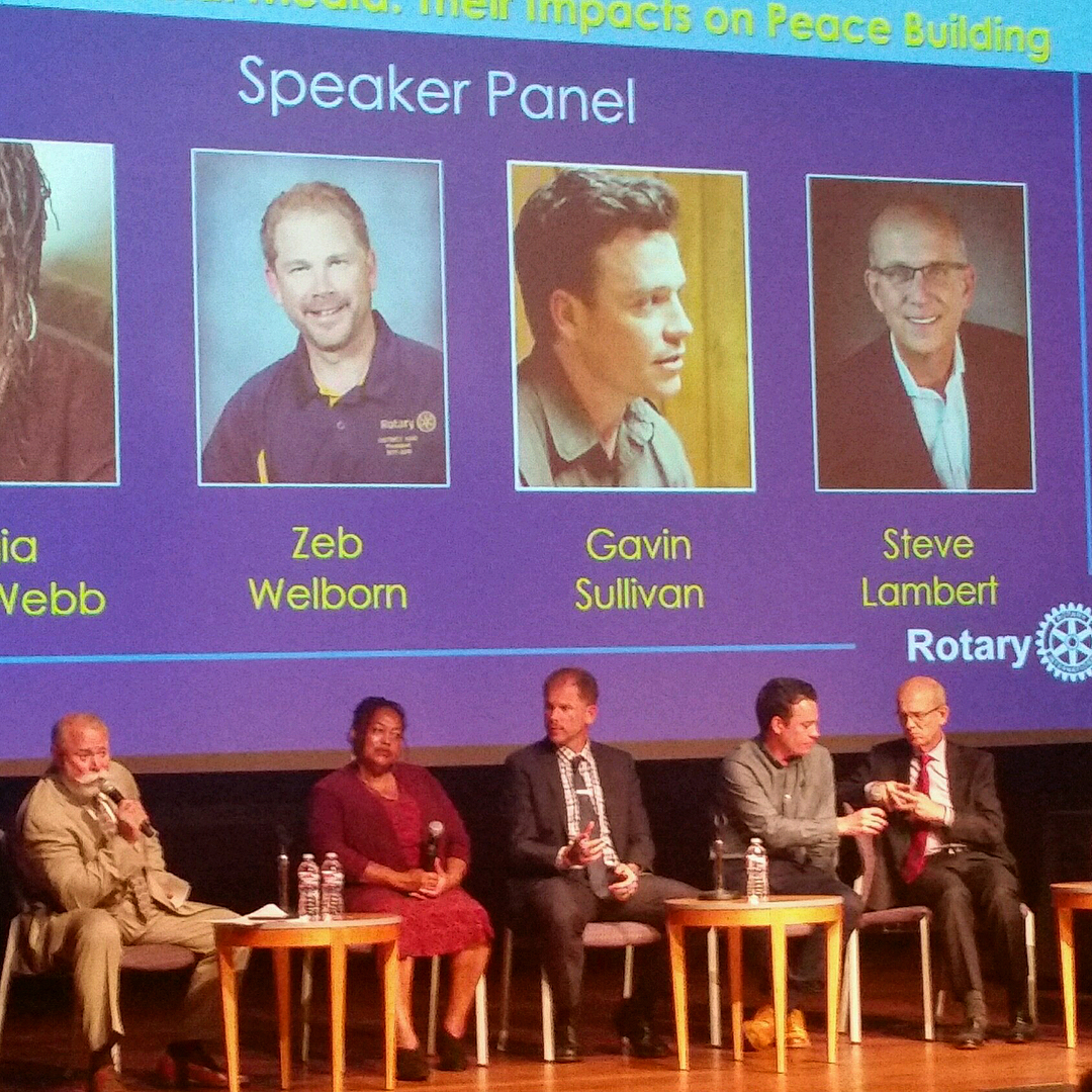 Zeb Welborn's Panel Discussion at the District 5300 Rotary International Peace Conference at the Huntington Library in Pasadena