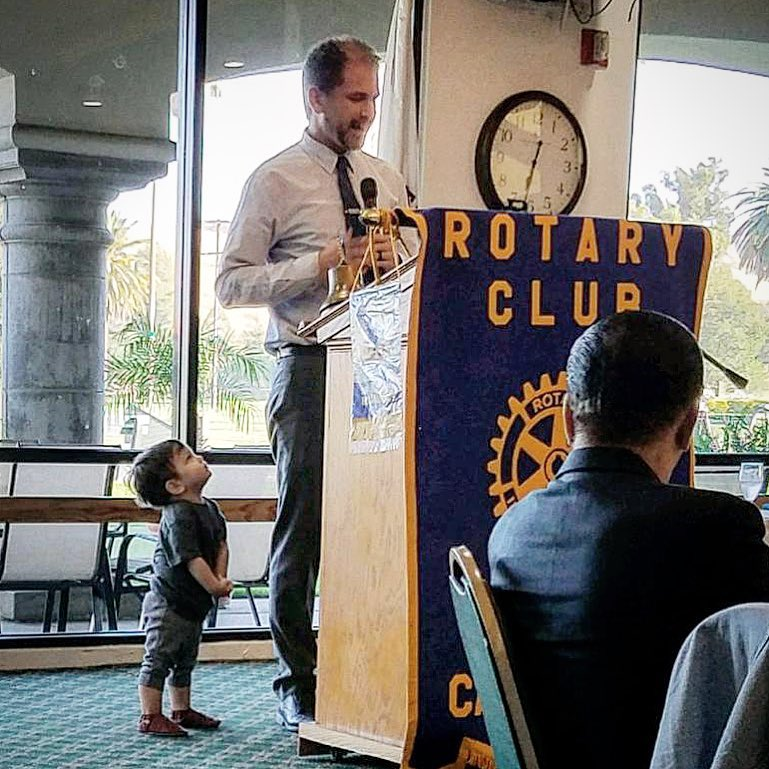 Zeb Welborn Speaking at the Chino Rotary Club Installation Dinner at Los Serranos Country Club.